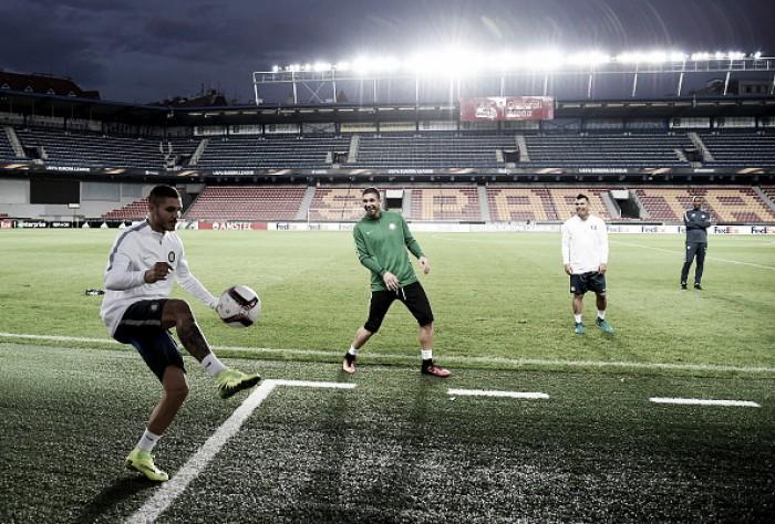 Internazionale enfrenta Sparta Praga para tentar apagar vexame da primeira rodada da UEL