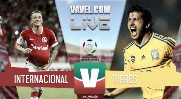 Resultado Tigres - Internacional en Copa Libertadores 2015 (3-1)