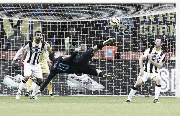 Risultato Udinese - Inter in Serie A (1-2)