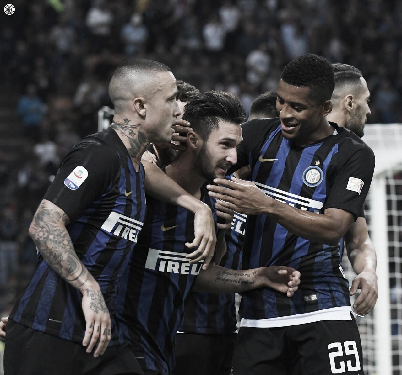 Com ajuda do VAR, Inter de Milão bate Cagliari e chega à terceira vitória seguida na Serie A