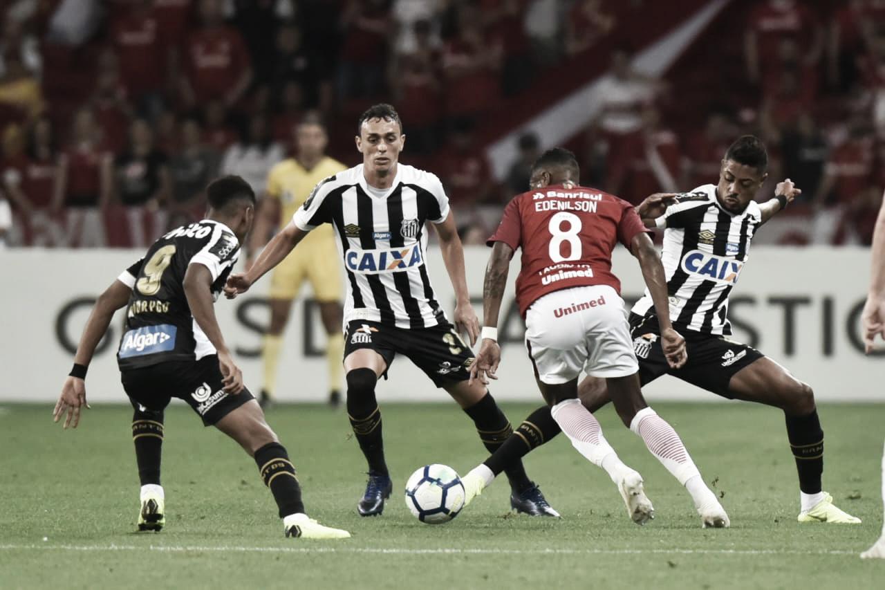 Com arbitragem polêmica, Internacional e Santos empatam no Beira-Rio