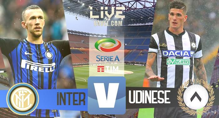 Inter - Udinese in diretta, LIVE Serie A 2017/18 - Lasagna, Icardi, De Paul, Barak! (1-3)