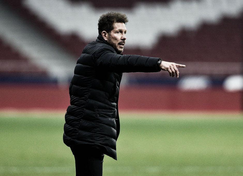 """Simeone: """"No jugamos el partido que queríamos""""."""