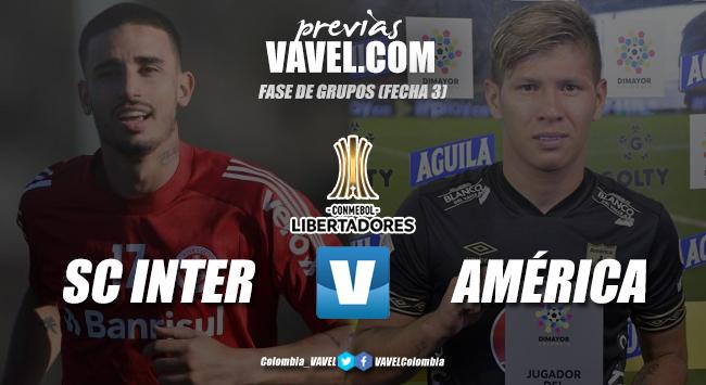Previa SC Internacional vs América de Cali: choque clave en el regreso de la Copa Libertadores