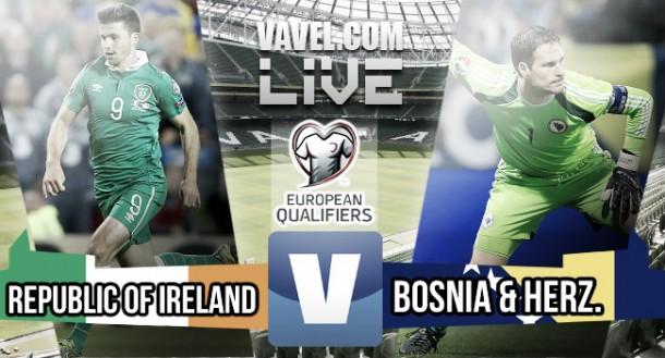 Score Ireland 2-0 Bosnia in Euro 2016 play-off