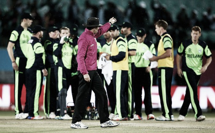 World T20: Heavy rain brings an end to Ireland's chances of qualifying