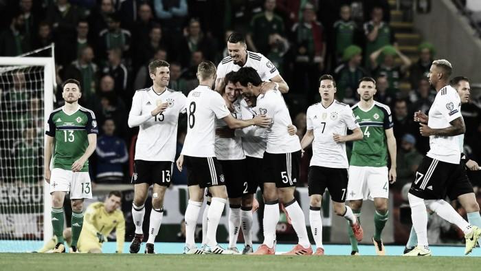 Qualificazioni Russia 2018 - La Germania stacca il pass: 1-3 sul velluto in Irlanda del Nord