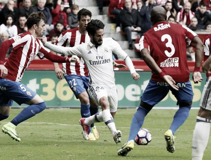 Liga, Isco regala al Real una vittoria batticuore a Gijòn (2-3)
