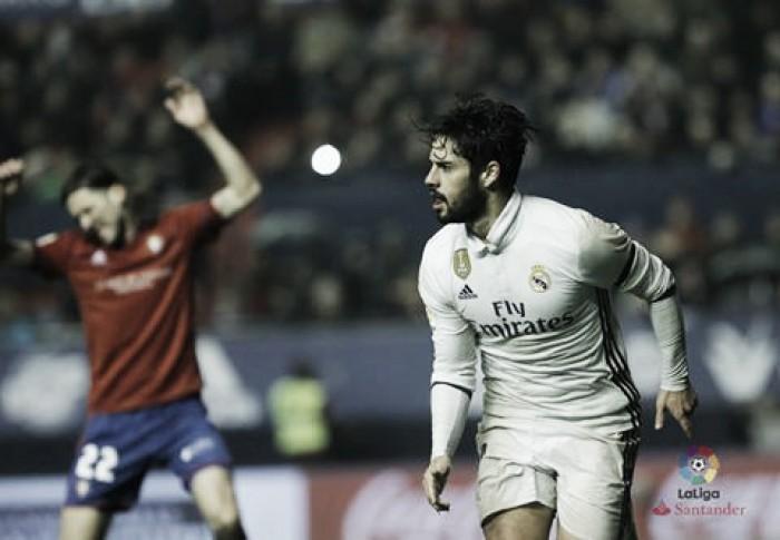 Liga, il Real fatica ma vince a Pamplona contro l'Osasuna (1-3)