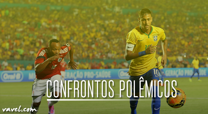 Frente a frente mais uma vez, Brasil e Colômbia remontam sequência de confrontos polêmicos