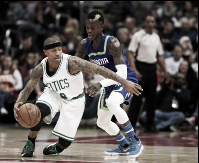Boston Celtics hold off late rally, defeat Atlanta Hawks 103-101