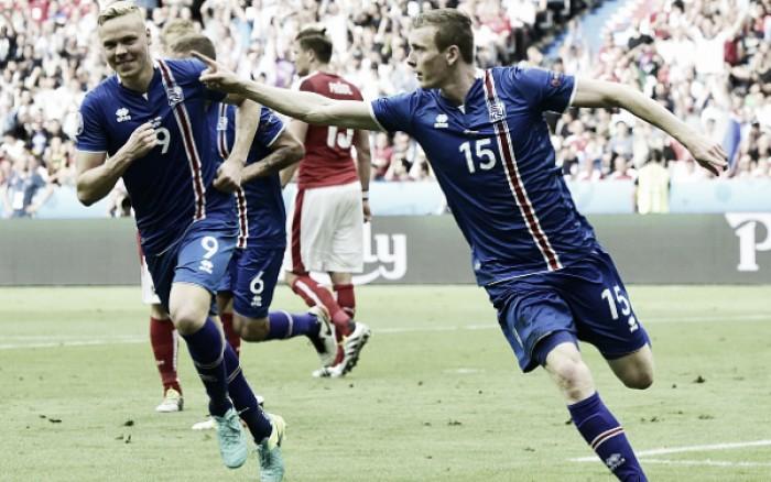Islândia bate Áustria com gol de Traustason no fim e faz história na Eurocopa 2016