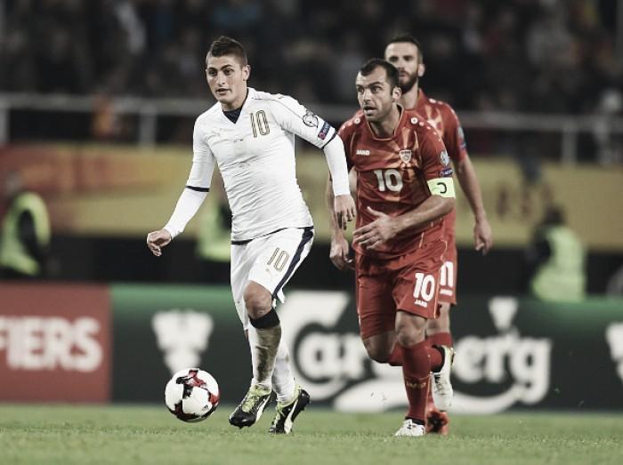 Itália visa vitória sobre Macedônia para carimbar passaporte à Copa da Rússia