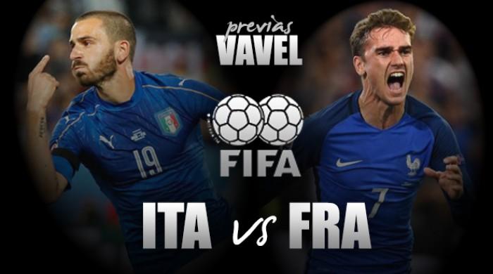 Itália e França medem forças em amistoso preparatório para as Eliminatórias à Copa do Mundo