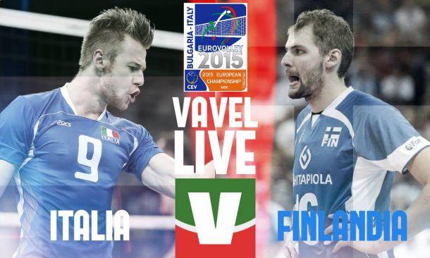 Risultato Italia - Finlandia, ottavi di finale Europei Volley 2015 (3-0: 25-19, 25-16, 25-22)