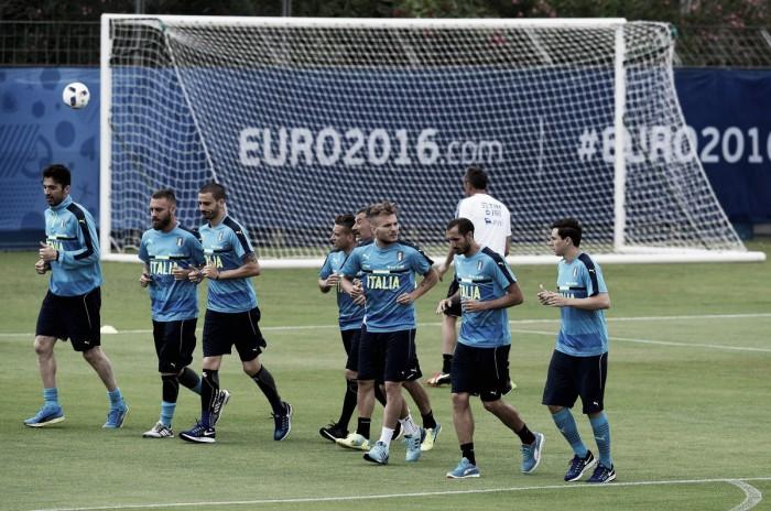 Italia subito in campo a Montpellier. Solo una contusione per Pellè