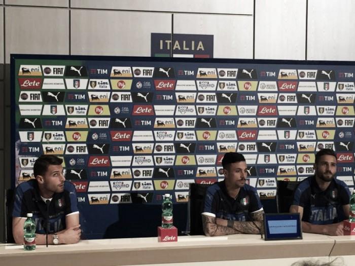 Secondo giorno di stage a Coverciano, Pavoletti, Izzo e Sportiello in conferenza stampa
