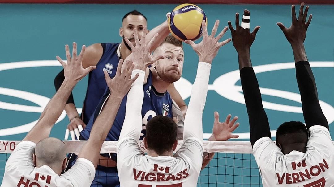 De virada! Itália vence Canadá no tiebreak na primeira rodada das Olimpíadas