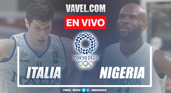 Resumen y mejores momentos del Italia 80-71 Nigeria en Tokio 2020.