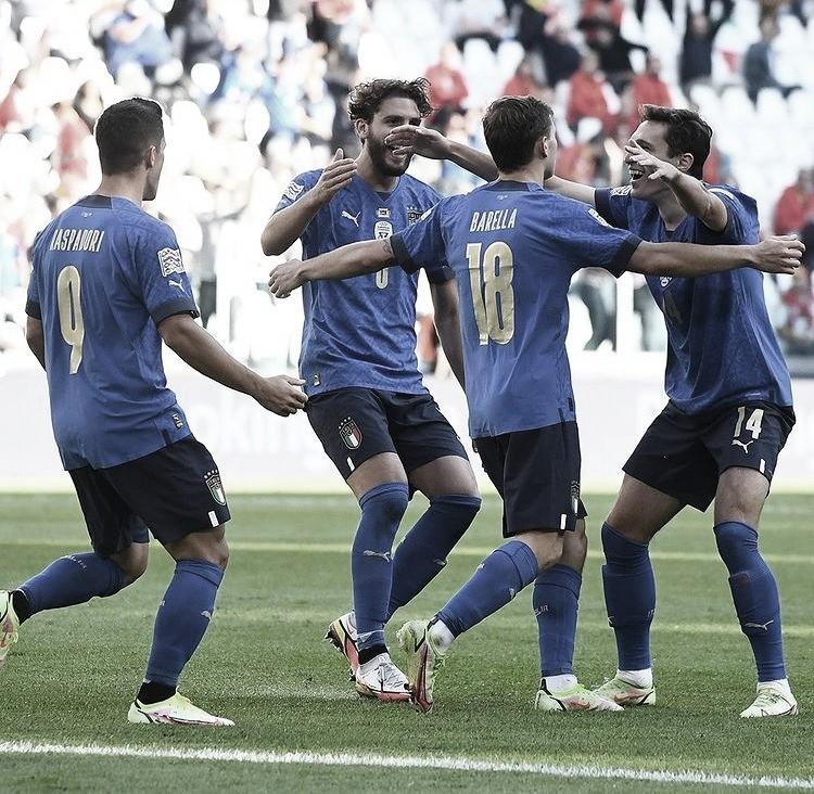 Itália joga melhor, bate Bélgica e fica com terceiro lugar da Nations League