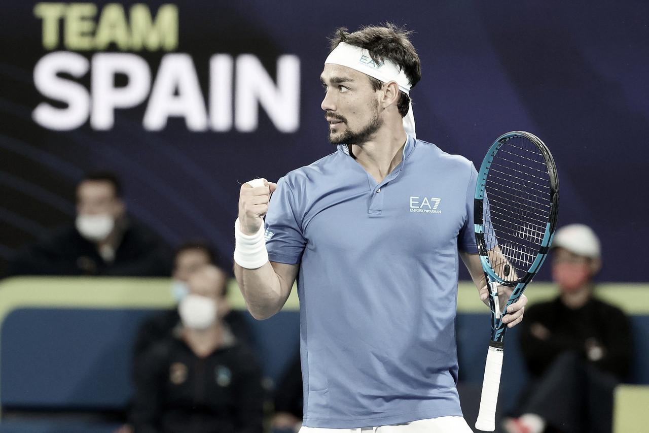 Fognini quebra tabu contra Carreño Busta, Itália supera Espanha e vai à final da ATP Cup