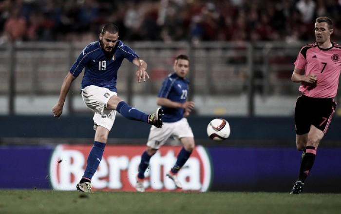 Itália vence Escócia com belo gol de Pellè em amistoso preparatório para a Eurocopa