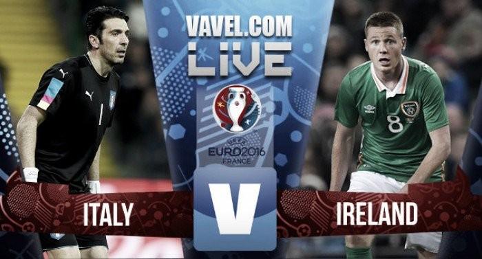 Risultato finale Italia - Irlanda, Euro 2016  (0-1): L'Irlanda batte l'Italia e vola agli ottavi. Prova incolore per gli azzurri