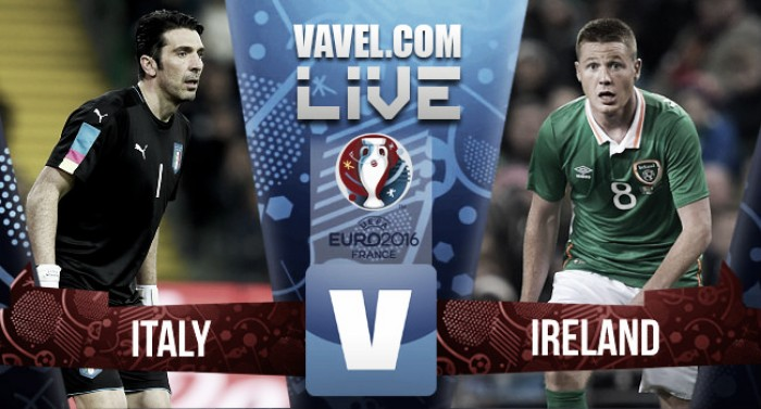 Dramatic late Brady header gives Republic of Ireland victory over Italy, and a last 16 place