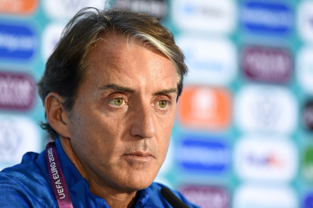 Italian boss Mancini coy on potential line-up for EURO opener