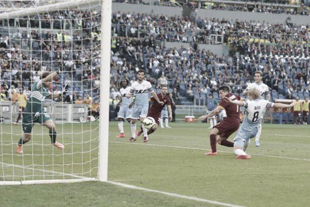 Risultato Lazio - Roma di Serie A (1-2)