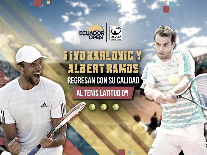Ivo Karlovic y Albert Ramos confirman su participación en el ATP250 de Quito