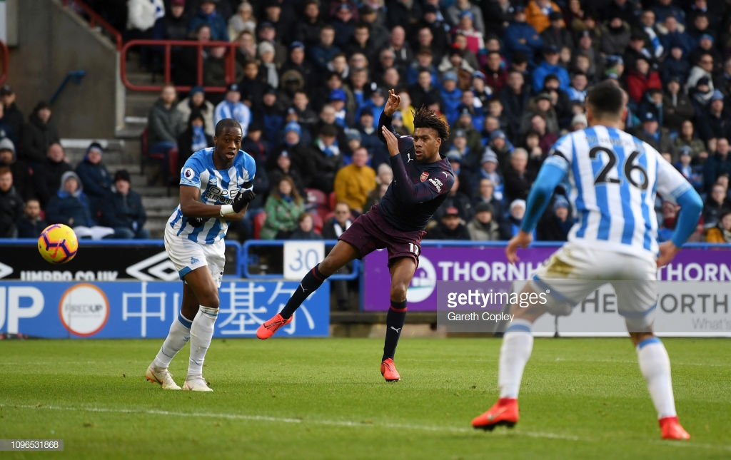 Huddersfield Town 1-2 Arsenal: First-half goals from Iwobi and Lacazette prove enough for three points