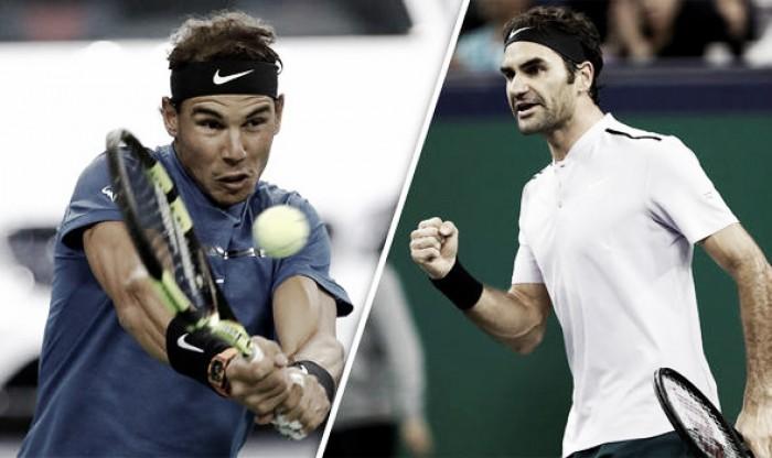 Rafael Nadal 0x2 Roger Federer na final do Masters 1000 de Xangai