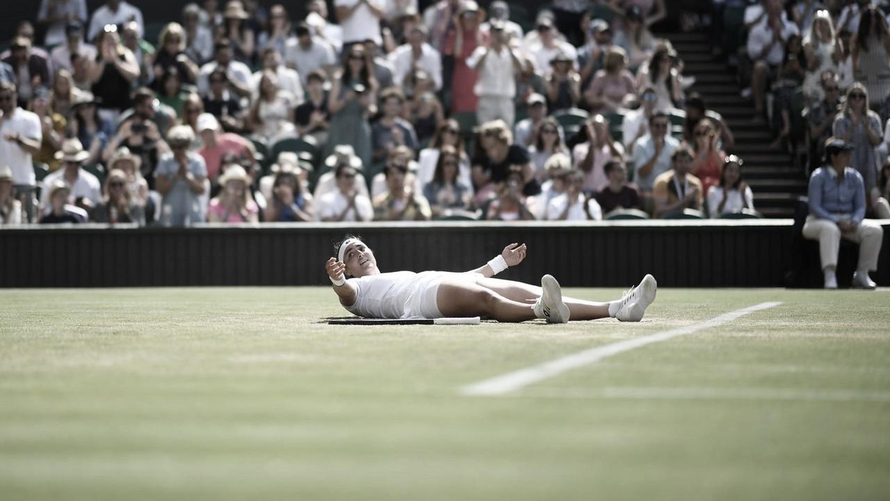 Jabeur elimina Muguruza de virada em Wimbledon; Keys supera Mertens
