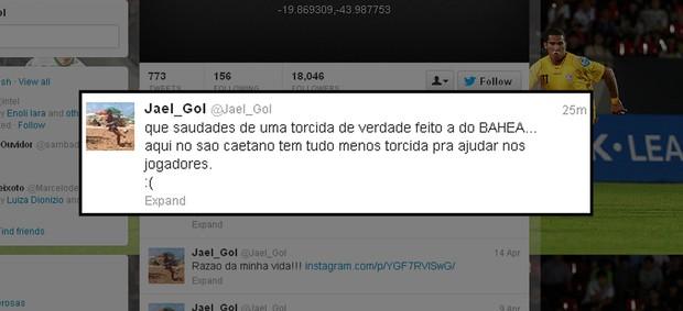Após eliminação na Copa do Brasil, atacante do São Caetano critica a torcida em rede social