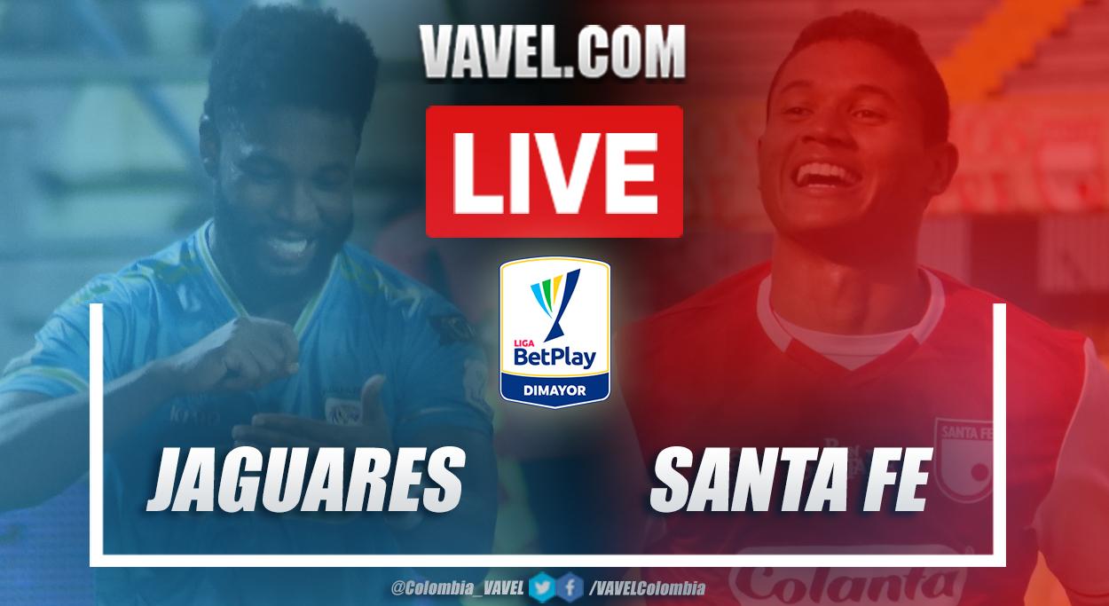Resumen Jaguares vs Santa Fe (0-1) por la fecha 5 de la Liga BetPlay 2021-I