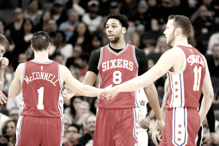Philadelphia 76ers trade Jahlil Okafor Nik Stauskas to Brooklyn Nets for Trevor Booker