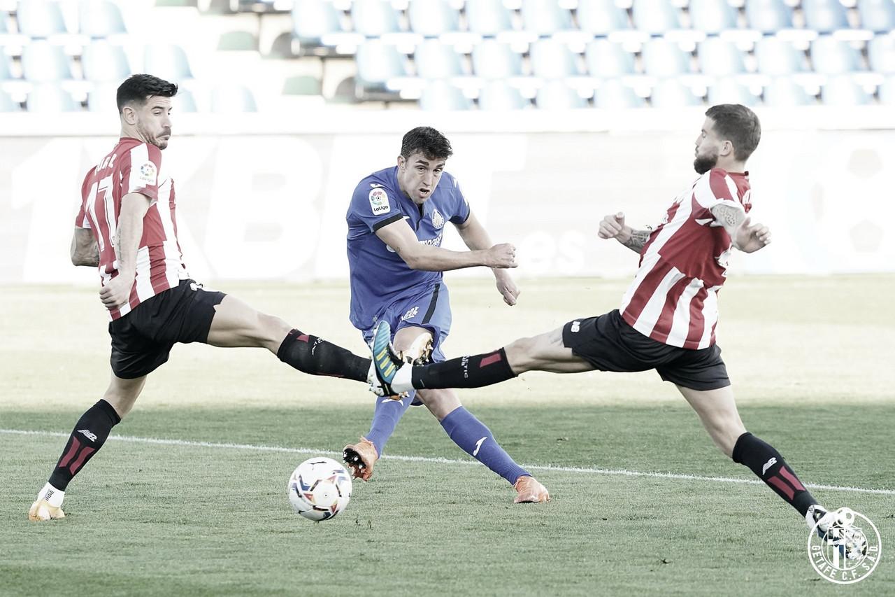 Getafe vs Athletic; Tiro de Jaime Mata // Fuente: Getafe CF