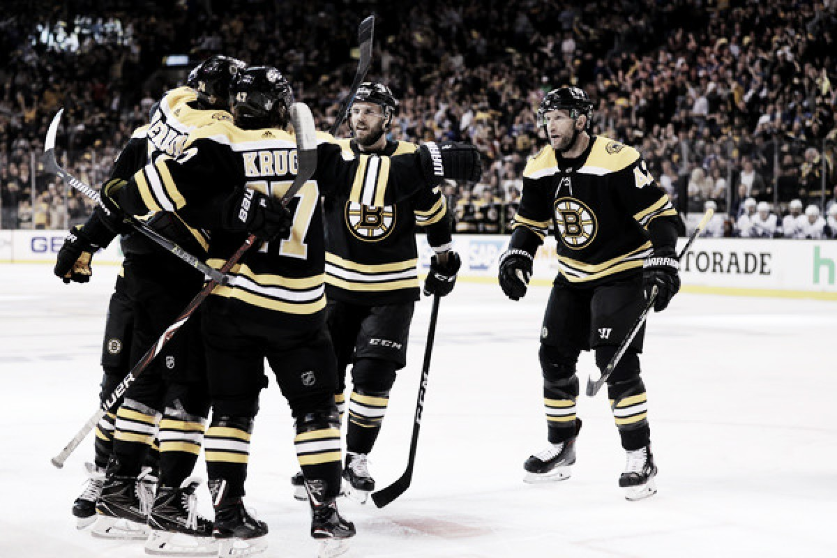 Boston Bruins advance after third period comeback defeats the Toronto Maple Leafs