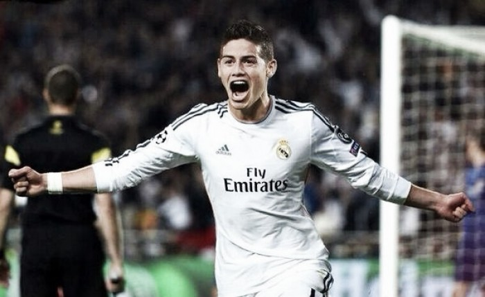 James Rodríguez brilló y anotó en el Bernabéu