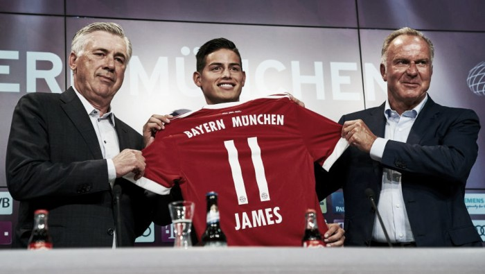Apresentado, James Rodríguez enaltece Bayern de Munique e almeja conquistar títulos