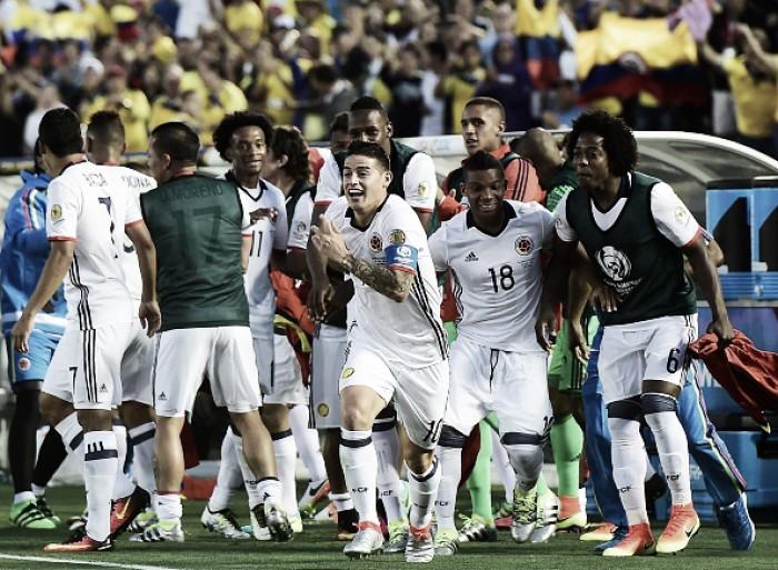James Rodríguez brilha, Colômbia vence Paraguai e se classifica às quartas na Copa América