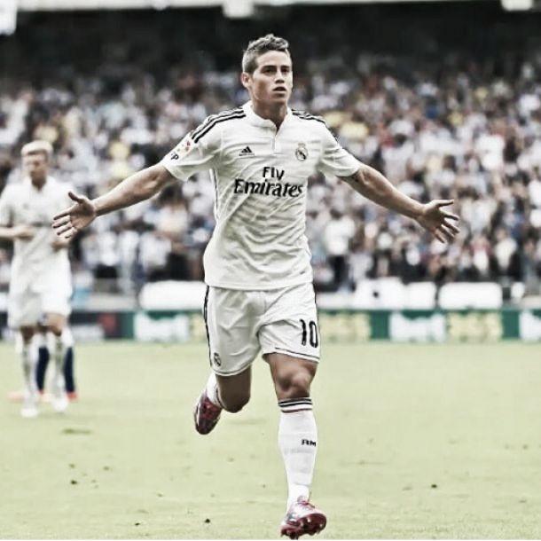 James anotó un golazo en la victoria del Real Madrid sobre el Levante