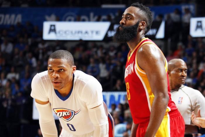 NBA, Oklahoma City - Houston è anche Westbrook contro Harden: chi la spunterà?