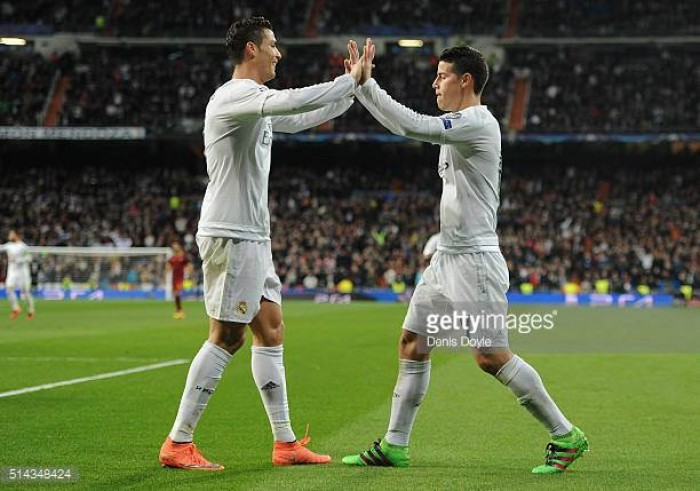 Real Madrid 3-0 Atletico Madrid: Cristiano Ronaldo scores a hat-trick to put his side in the drivers seat