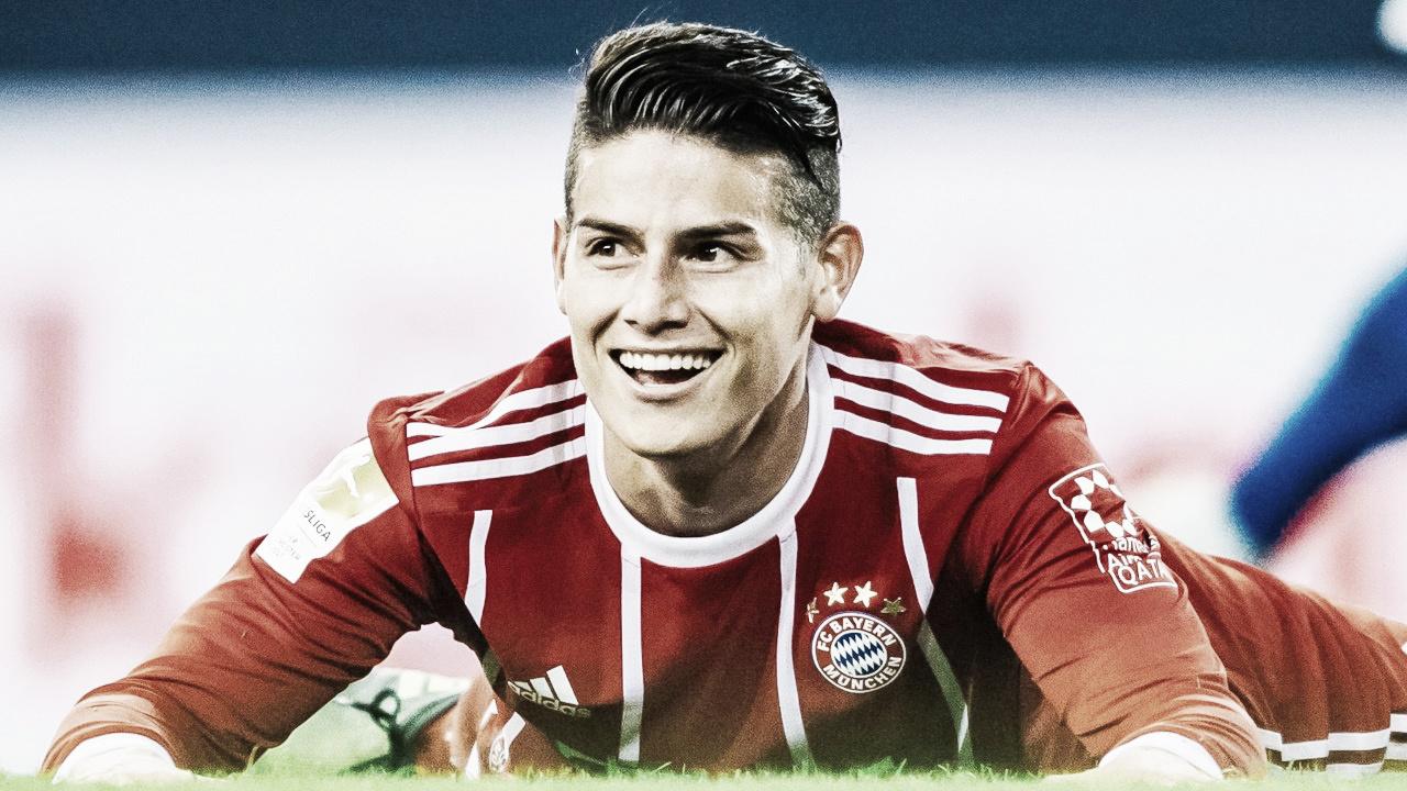 """James Rodríguez destaca vitória do Bayern e revela: """"Dortmund está sob pressão"""""""