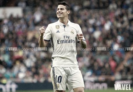 James vuelve a disputar la Champions con el Real Madrid dos años después