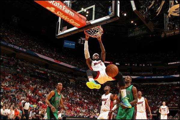 Com retorno do time titular, Heat vence Celtics