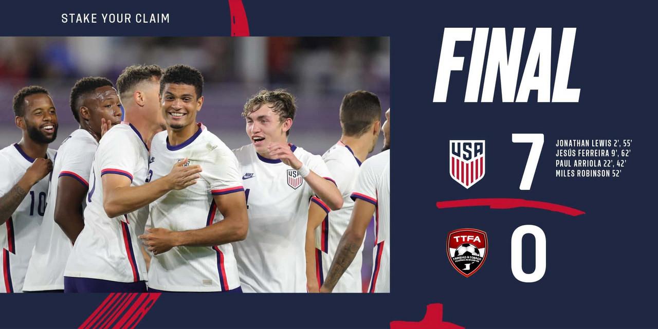 Estados Unidos 7-0 Trinidad y Tobago: cátedra estadounidense en el inicio de 2021