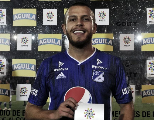 Felipe Jaramillo, el más destacado en Millonarios frente a Junior